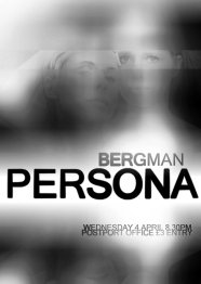 Poster for Bergman's PERSONA, screened as part of the Postport Office cinema.